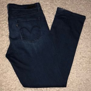 Levi's Jeans Stretch Size 16 Mid Rise Straight
